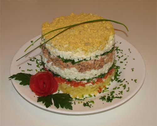 салат мимоза с сыром 1